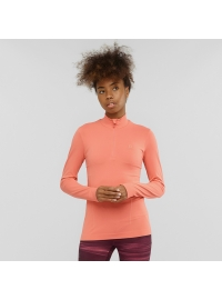 Bluza COMET SEAMLESS HZ W Burnt Coral / Salmon